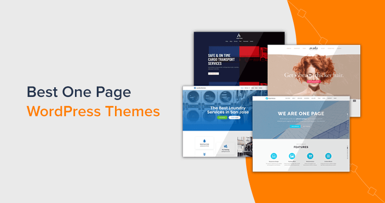 Best One Page WordPress Themes for Single Page Sites