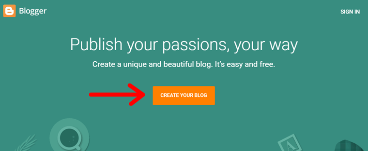 Create Your Blog on Blogger