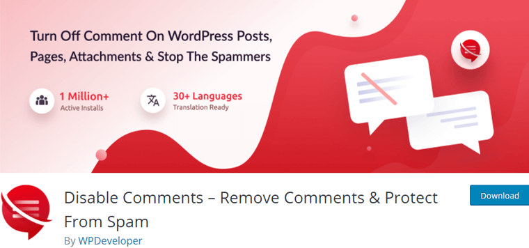 Disable Comments – Remove Comments & Protect From Spam
