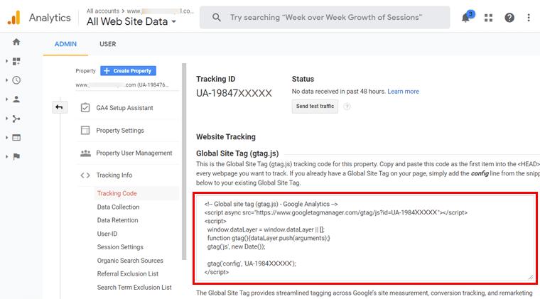 G Analytics Tracking Code