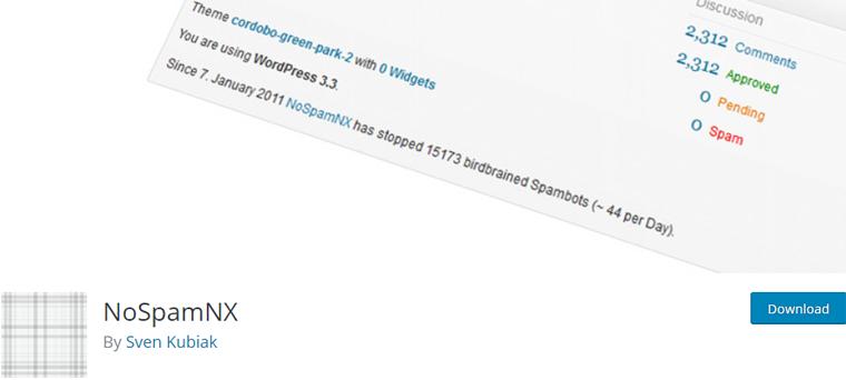 NoSpamNX Plugin to Defend WordPress Site from Spam