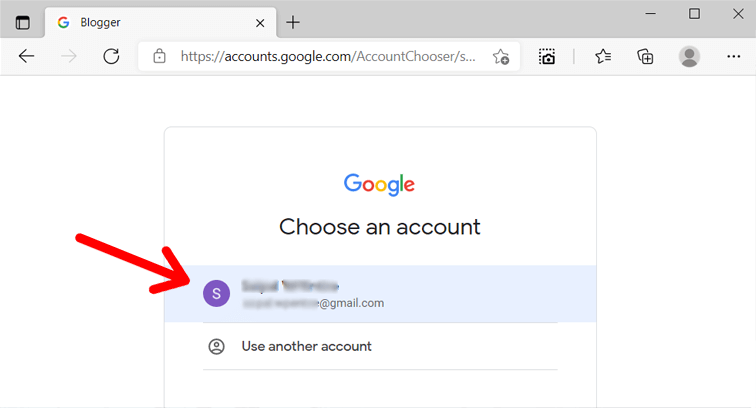Sign Up to Blogger Account with a Google Account