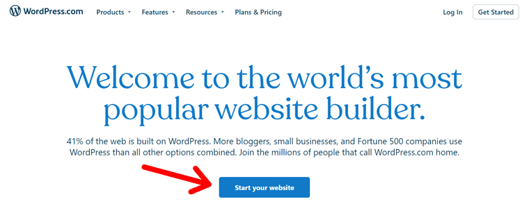 Start Your Website on WordPress.com