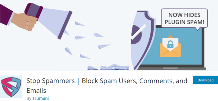 Stop Spammers Plugin for Block Spam Users, Comments, and Emails
