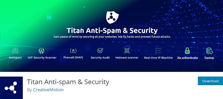 Titan Anti Spam and Security WordPress Plugin