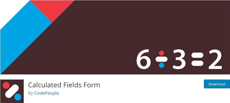 Calculated Fields Form- calculator WordPress plugin
