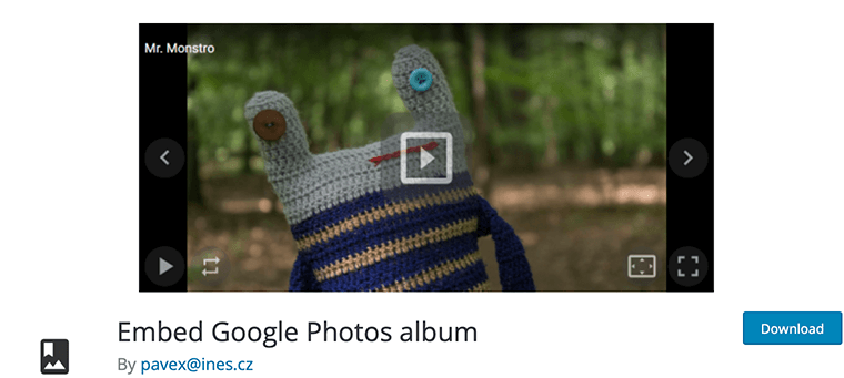 Embed Google Photos album - Google Photos WordPress Plugin