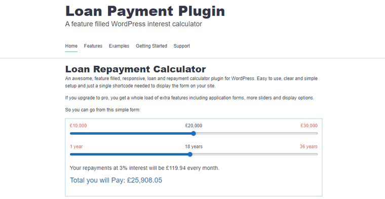 Loan Repayment Calculator and Application Form