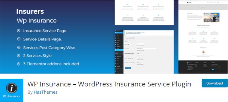 WP Insurance WordPress Insurance Service Plugin