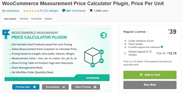WooCommerce Measurement Price Calculator Plugin