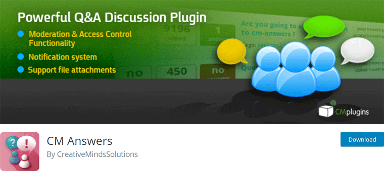 CM Answers WordPress Q&A Plugin