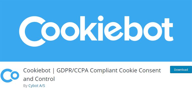 Cookiebot Best WordPress Cookie Consent Plugin