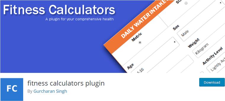 fitness calculators plugin- price calculator WordPress plugin