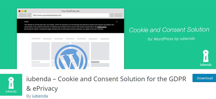 iubenda Best WordPress Cookie Consent Plugin