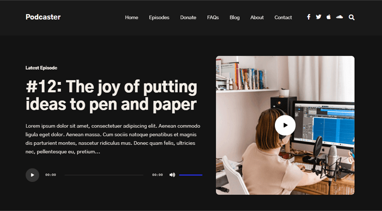 Podcaster Best Podcast WordPress Themes & Templates