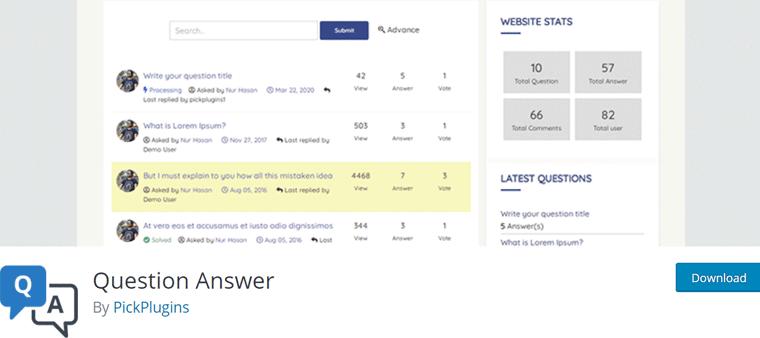 Question Answer WordPress Q&A Plugin