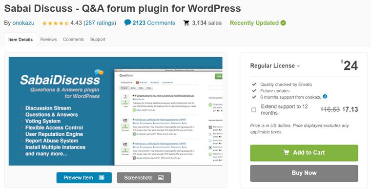Sabai Discuss WordPress Q&A Forum Plugin