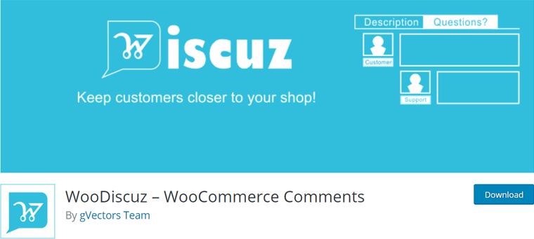 WooDiscuz WooCommerce Comments Plugin