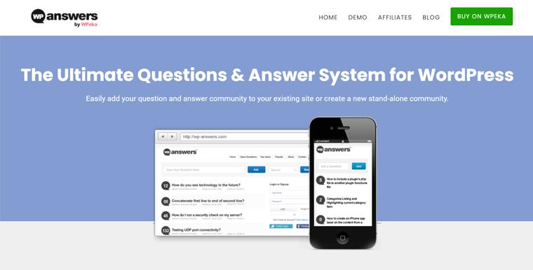 WP-Answers WordPress Q&A Plugin