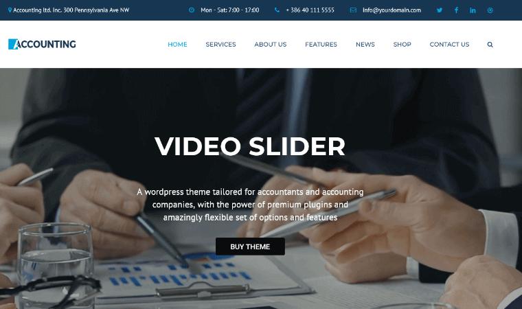 AccountingTheme WordPress accounting theme
