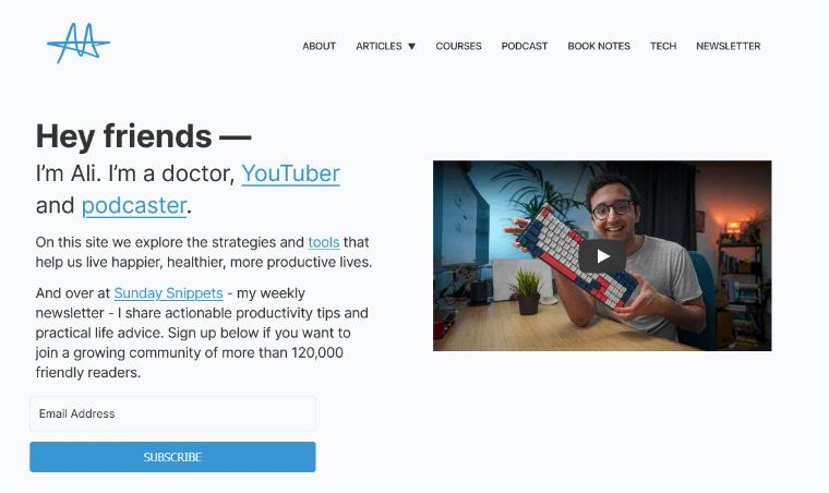 Ali-Abdaaal-websites personal development websites