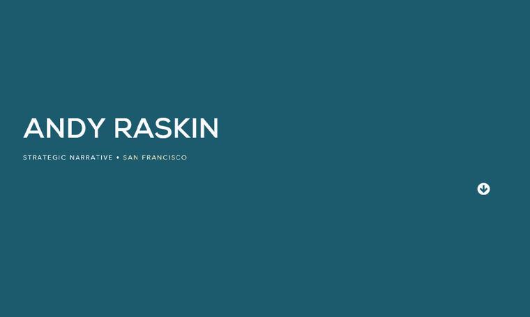 Andy-Raskin-Website business strategiest personal websites
