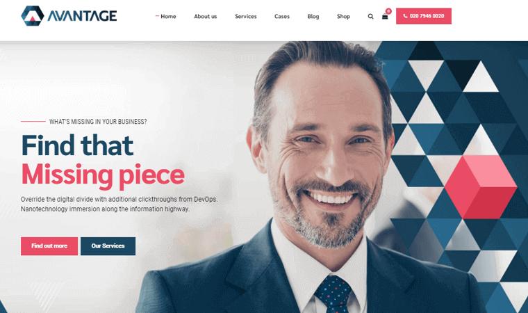 AvantageTheme finance blog WordPress theme