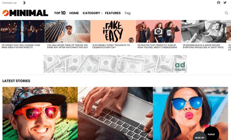 Bimber WordPress magazine style theme