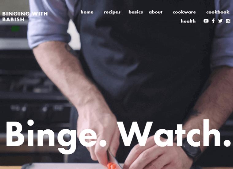 Binging-with-Babish-Website personal cooking websites