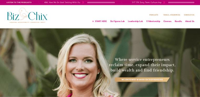 BizChix Membership Website