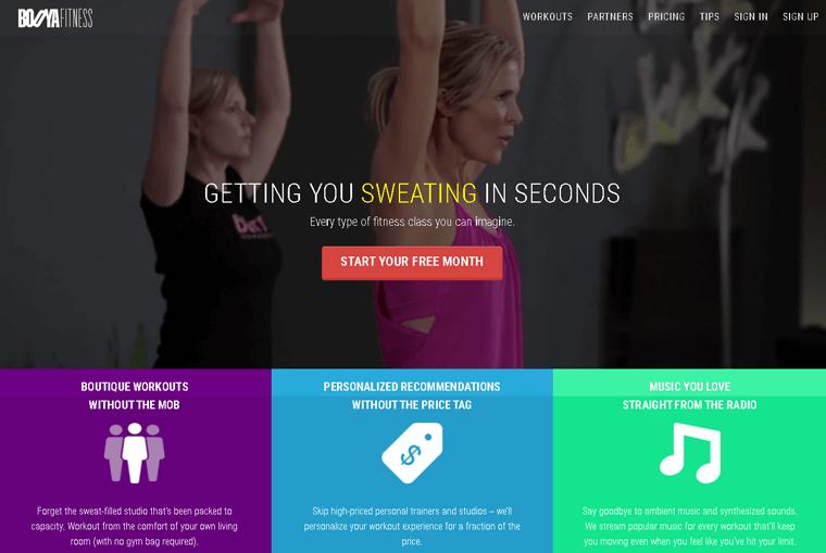 Booya Fitness Membership Site