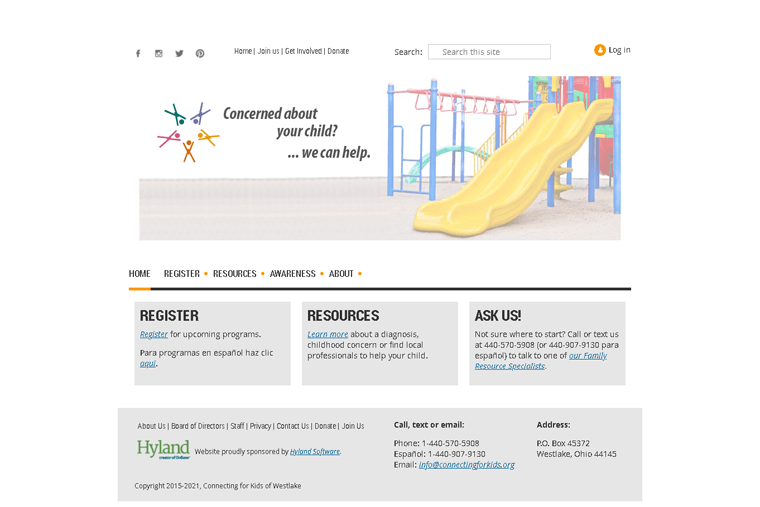 Connecting for Kids Membership Website