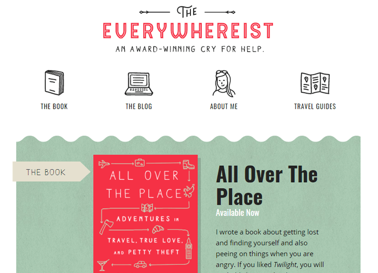 Everywheriest-Website personal websites idea