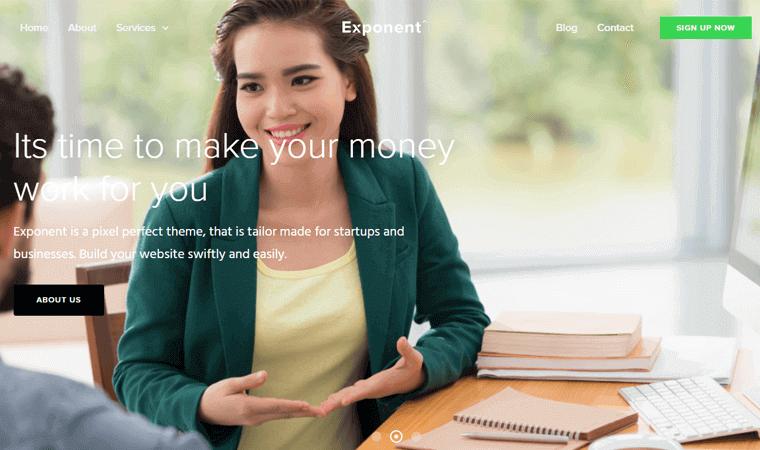 ExponentTheme finance advisor