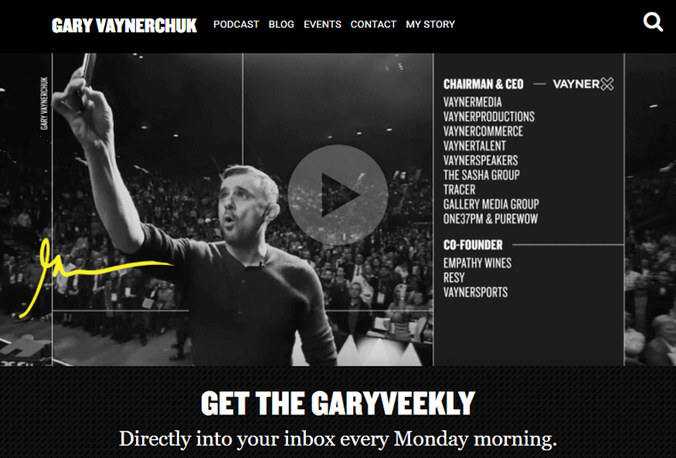 Gary-Vaynerchuk-Website