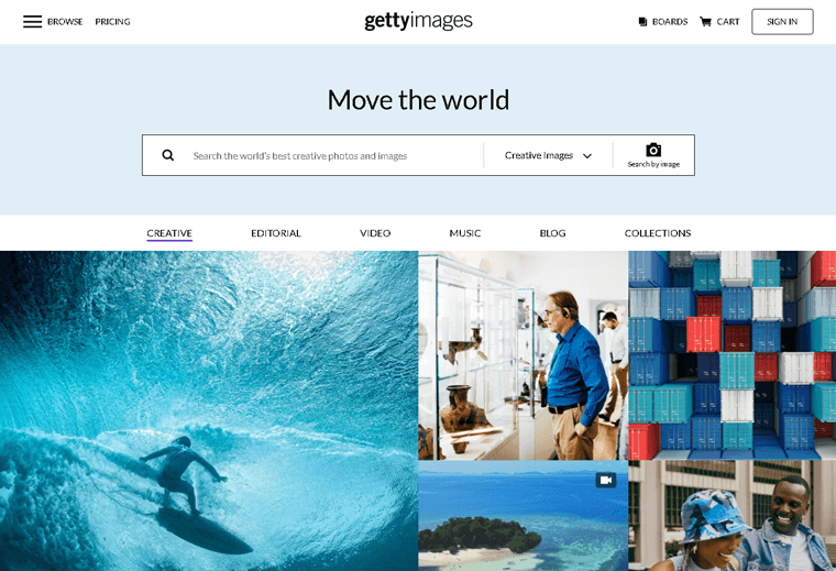 Getty Images Membership Site