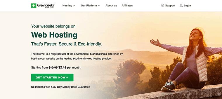 GreenGeeks WordPress Hosting Service