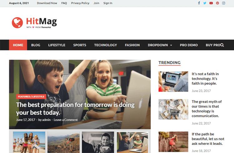 HitMag magazine WordPress theme