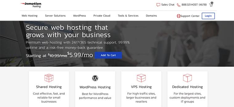 InMotion Hosting WordPress Hosting Service