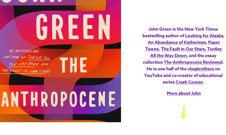 Jonh-Green-Book-Website personal website examples