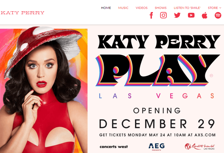 Katy-Perry-Websites personal websites for famous people