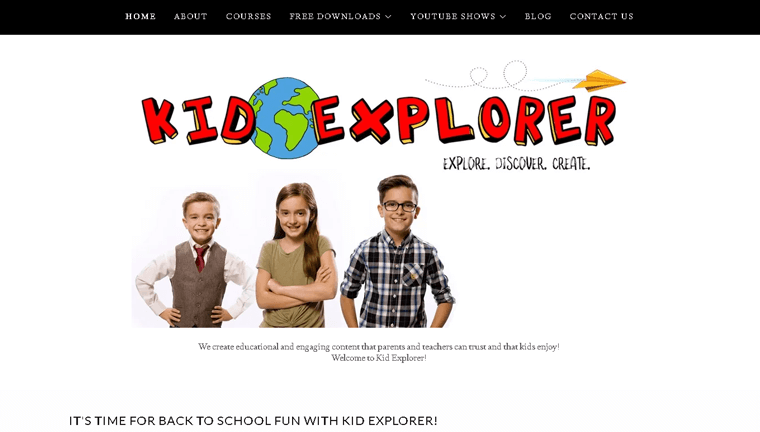 Kid Explorer Membership Website