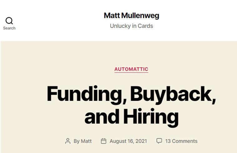 Matt-Mullenweg-Website fundraising websites