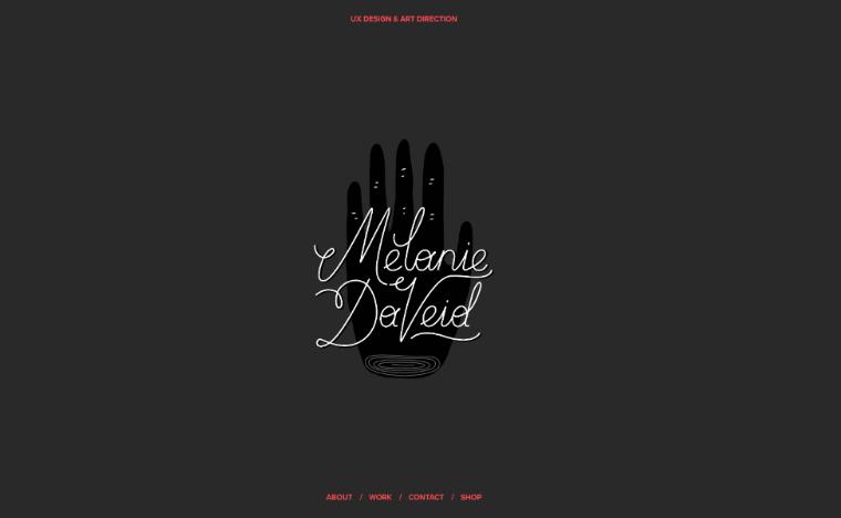 Melaine-daveid-Website personal websites templates