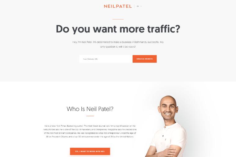 Neil-patel-Website personal online marketing websites
