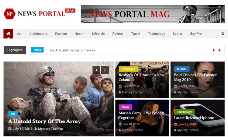 News Portal free WordPress magazine themes