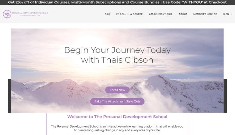 Personal Development School Membership Website