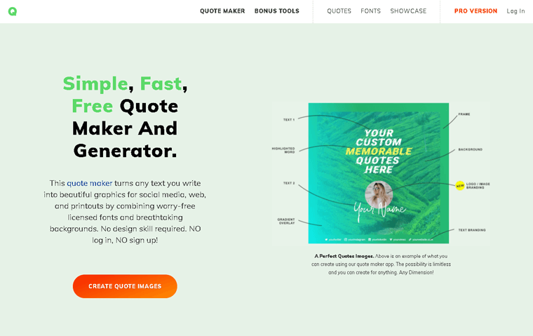 Quotes Cover Membership Site