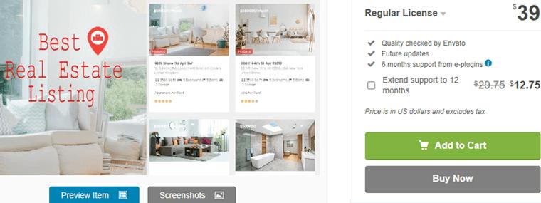 Real Estate Pro WordPress real estate plugin