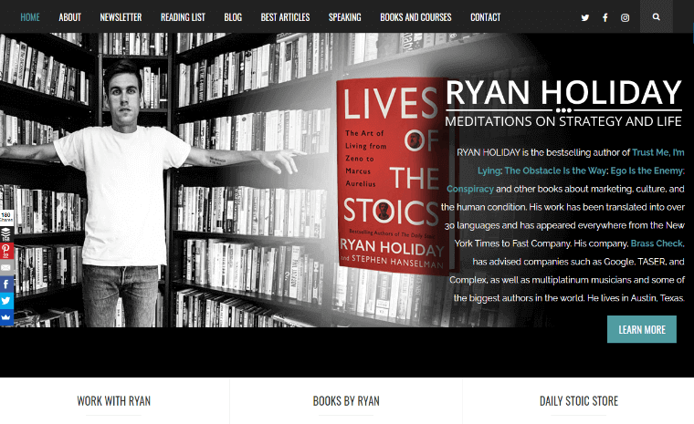 Ryan-Hoilday-Website best personal development websites